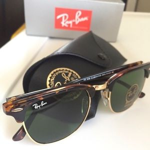 Ray Ban Clubmaster Tortoise RB3016 NWT